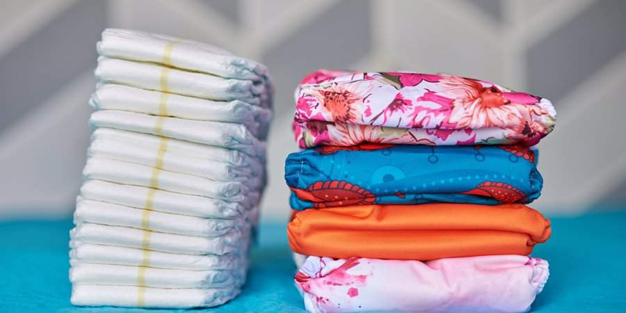 regular nappies vs reusable nappies